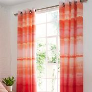 Ombre Coral Eyelet Lined Curtains Kaleidoscope Logo £8.00
