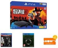 500GB PS4 Red Dead Redemption 2 + Last of Us + Elder Scrolls Summerset & Now TV