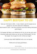 4 Burgers for £18 on Tuesday 5th March at GBK