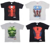 Avengers T Shirt Torso Top Hulk Iron Man Captain America Spider-Man Infinity War