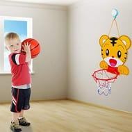 Mini Basketball Slam Dunk Hoop Set, over the Door Plastic Toy Backboard