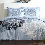 Elmira Printed 200 Thread Count Cotton Duvet Cover & Standard Pillowcase Set
