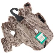 Padded Faux Fur Dog Coat Brown 34 Small