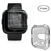 Fitbit Versa Screen Protector with Case (3+1Pack)