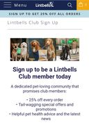 Lintbells Club Member Discounts/offers
