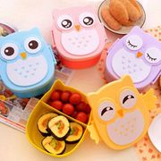 Cute Cartoon Owl Lunch Box Food Container Storage Portable Kids Bento Box UK