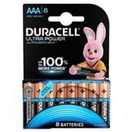 Duracell Ultra Power AAA Alkaline Batteries 8 per Pack