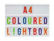 Light Box with Colour Letters