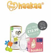 Haakaa Silicone Breast Pump, Stopper and Breast Pads