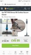 Vax TBTTV1D1 Slimvac 18V Cordless Vacuum Cleaner