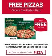 Two FREE Pizzas on Orders Over £27 at Iceland