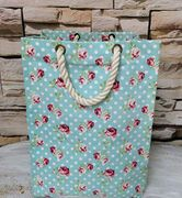 Retro Travel Laundry Bag Pin up Large Foldable Hamper