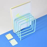 Block Magazine Rack - Turquoise