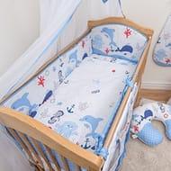5 Pcs Baby Nursery Bedding Set, 140x70cm 420cm Long Bumper, Suits Cot Bed