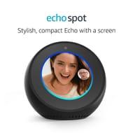 SAVE £20. Amazon Echo Spot, Smart Speaker and Screen with Alexa **4.5 STARS**