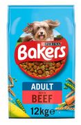 Bakers Meaty Meals Adult Dry Dog Food Beef