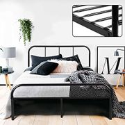 Coavas Double Bed Frame 4ft 6 Solid Bed Frame with 2 Headboard Metal Bed Frame