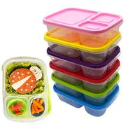 Plastic Food Containers Kids Lunch Box Set of 5