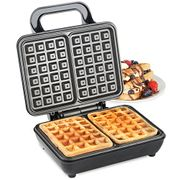 VonShef Dual Belgian Waffle Maker 1000W Compact Stainless Steel