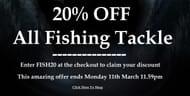 20% off All Fishing Tackle at John Norris