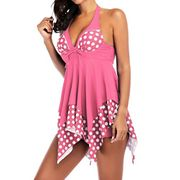 Ladies Girls Tankini Sets Halter Swimdress Bathing Suits Bikini