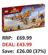 £26 off at AMAZON: LEGO Marvel Super Heroes: Thanos Ultimate Battle (76107)