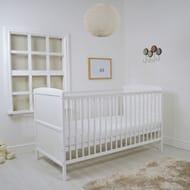 Cuddles Collection Kareena Cot Bed & Mattress (White)