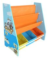 Kiddi Style Children's Pirate Wooden Storage Rack/Sling Bookcase