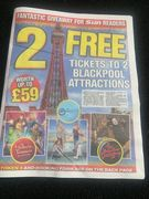 Two Free Tickets to Two Blackpool Attractions.
