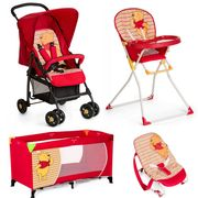 Hauck Sport Everything You Need Pushchair Bundle - Pooh Spring Brights Red