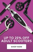 Save up to 25% on Selected Adult Scooters
