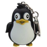 Cute Penguin Keyring Led Torch with Sound + £1 Delivery