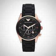 Emporio Armani Ar5905 Mens Chronograph Black & Gold Watch