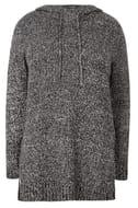 Black Knitted Hoodie - Half Price