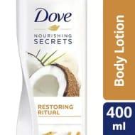 Dove Restoring Coconut Oil and Almond Milk Body Lotion 400ml - 52% Off