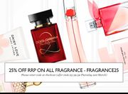 25% off All Fragrance at Escentual