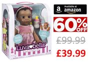 Amazon Prime Exclusive - Luvabella Doll Was £99.99 Now £39.99