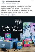Whittards- Spend £40 and Get £10 Gift