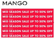 MANGO MID-SEASON SALE - up to 50% OFF