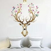 Stag and Flowers Wall Sticker