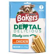 Bakers Dental Delicious Medium Dog Chews Chicken 200g - Case of 6 (1.2kg)