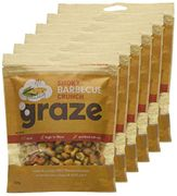 Graze Smoky Barbecue Crunch Savoury Vegetarian 104g (Pack of 6)