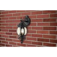 Argos Home Pumpkin Style Lantern - Black