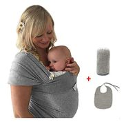 Baby Carrier Sling Wrap with Cover & Bib ( Free if previous voucher collected )