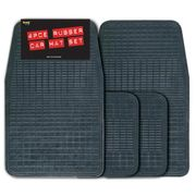 Streetwize 4 Piece Rubber Mat Set - Black Promotional - Free Delivery