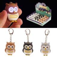 Cute Light up Hooting Owl Key Ring