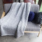 Comfortable Knitted Hand-Woven Blanket