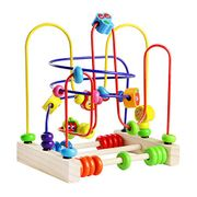 *Deal STACK* Fajiabao Bead Maze Wooden Toys Roller Coaster