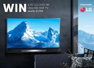 Win a 55 LG OLED 4K Ultra HD HDR TV worth £1799