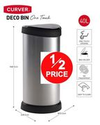 1/2 PRICE AT AMAZON: Curver Deco - One Touch Bin - 40 litres